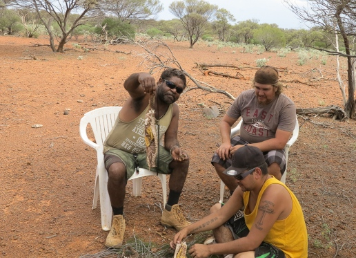 What a moment! Offered goanna meat for the first time